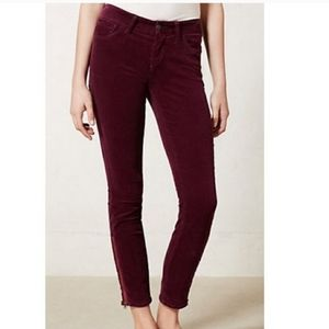 Anthropologie Pilcro Stet Corduroy Ankle Zip Pants